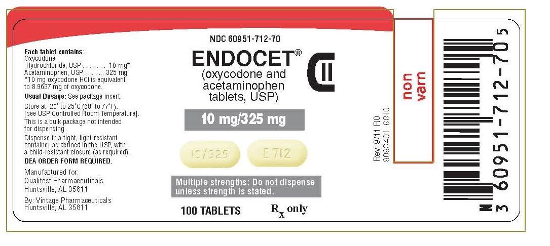 Endocet tablets